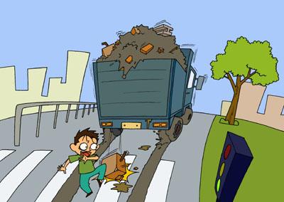上海挡车陪驾处理前车遗撒事故方法